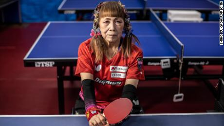 'I won't die a boring death, but I will make a big smash,' says 'The Butterfly Lady' of Paralympic table tennis