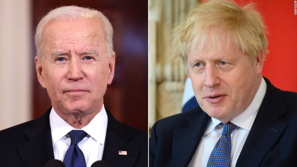 Biden and Johnson to agree to new Atlantic Charter during bilateral meeting