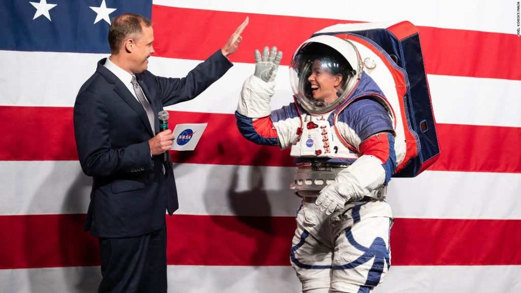 New spacesuits designed for NASA's next moonwalk