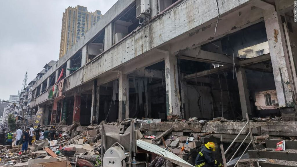 At least 12 killed in huge gas explosion in central Chinese city