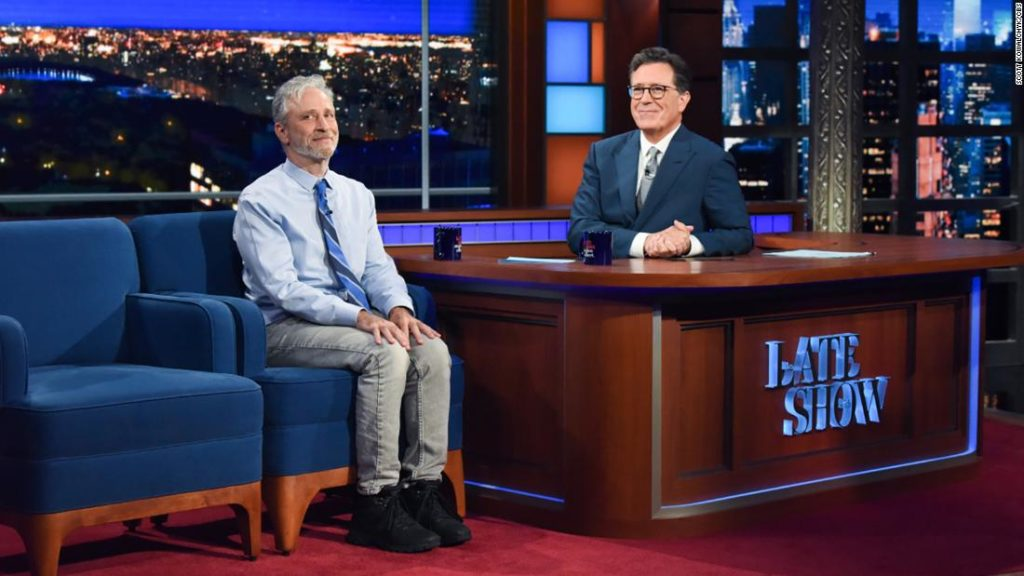 Stephen Colbert's 'Late Show' welcomes an audience back for first time since coronavirus pandemic