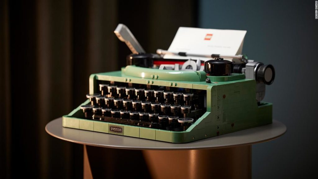 LEGO typewriter launched with moving keys and carriage