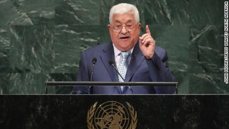 Palestinian Authority President Mahmoud Abbas speaks at the United Nations General Assembly in 2018.