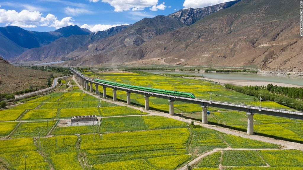 Tibet's first bullet train line enters service