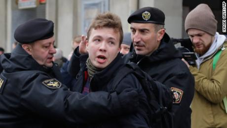 Belarusian journalist Roman Protasevich appears on state TV as critics decry his detention as a 'hostage'-taking