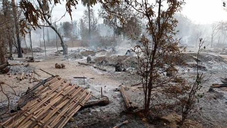 Junta troops burn Myanmar village to the ground after fighting, residents say