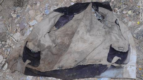 An item of clothing that was left at the scene of the massacre in Mahibere Dego, Tigray.