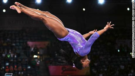 Simone Biles is schooling us on how to excel despite setbacks (like the pandemic). The new tricks she's unleashed since her Olympic golds help prove it