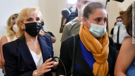 Valerie Bacot is pictured at the courthouse in Chalon-sur-Saône, France, on June 21.