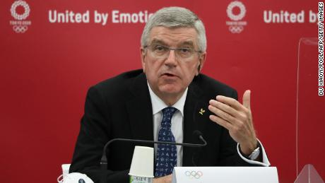 IOC President Thomas Bach speaks during a press conference in Tokyo on November 16, 2020. Within the last few months, the United for Navid Campaign has been writing to Bach, calling for immediate action to be taken against the NOC of Iran.