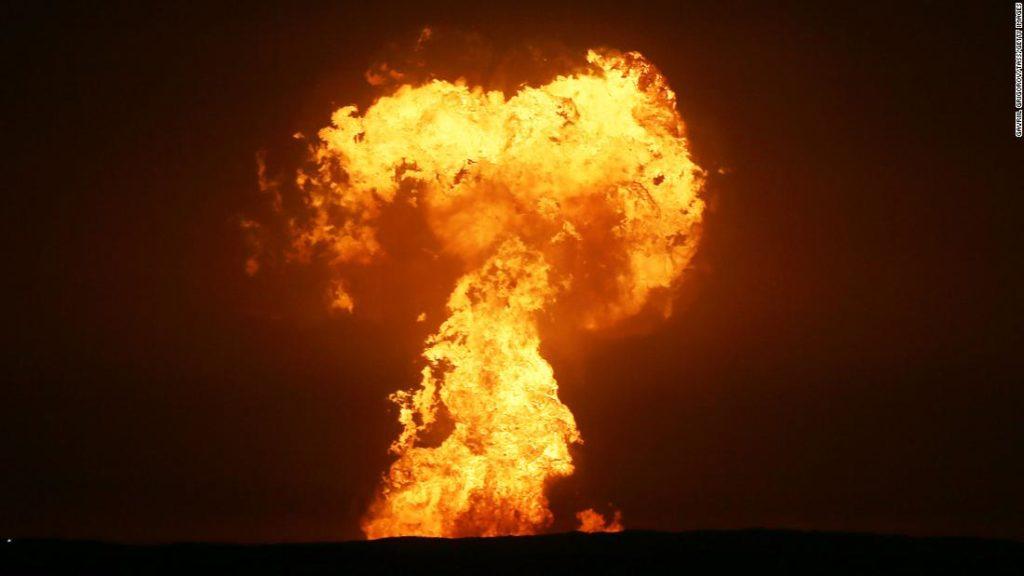 Caspian Sea fire: Gas platforms safe, Azerbaijan says