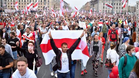 Belarus' contested elections in August 2020 led to huge anti-government protests and calls for the resignation of Lukashenko.