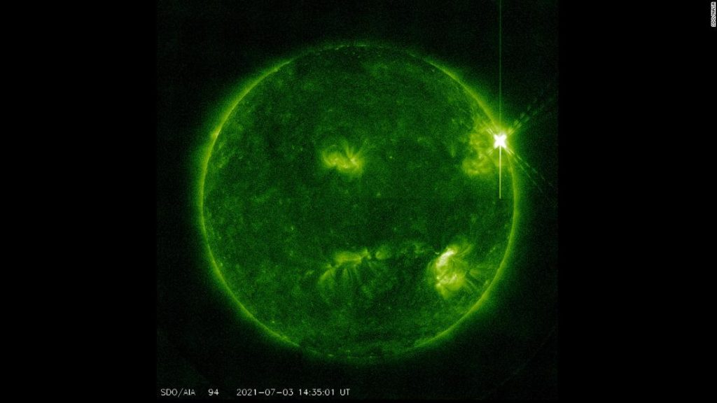 Large solar flare erupted on the sun last Saturday, scientists say