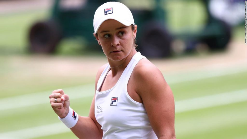 Ashleigh Barty reaches first Wimbledon final with emphatic victory over Angelique Kerber