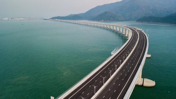 The Hong Kong-Zhuhai-Macau Bridge is the world's longest sea-crossing bridge.