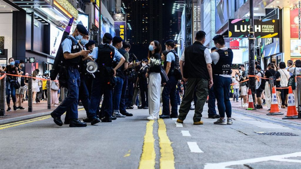 A man stabbed a Hong Kong police officer. Now people are calling him a hero