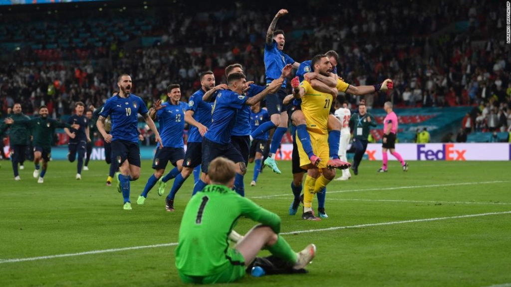 Italy crowned European champion after beating England on penalties