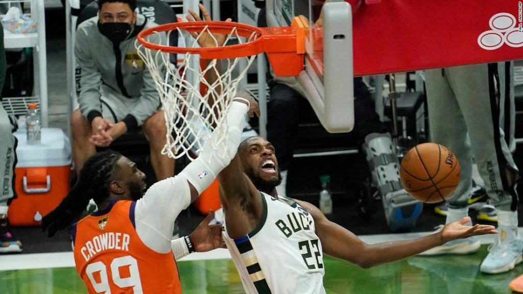 NBA Finals: Bucks rally to defeat Suns, level series at 2-2