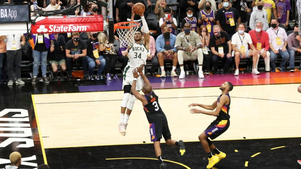 NBA Finals: Bucks rally past Suns, take 3-2 lead