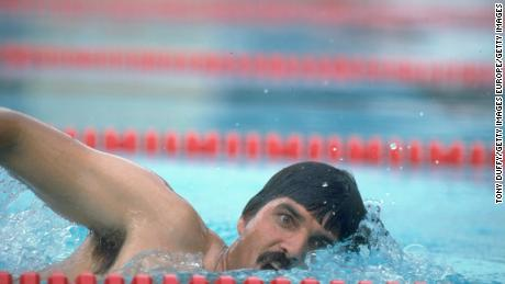 Spitz competes at the 1982 World Swimming Championships.