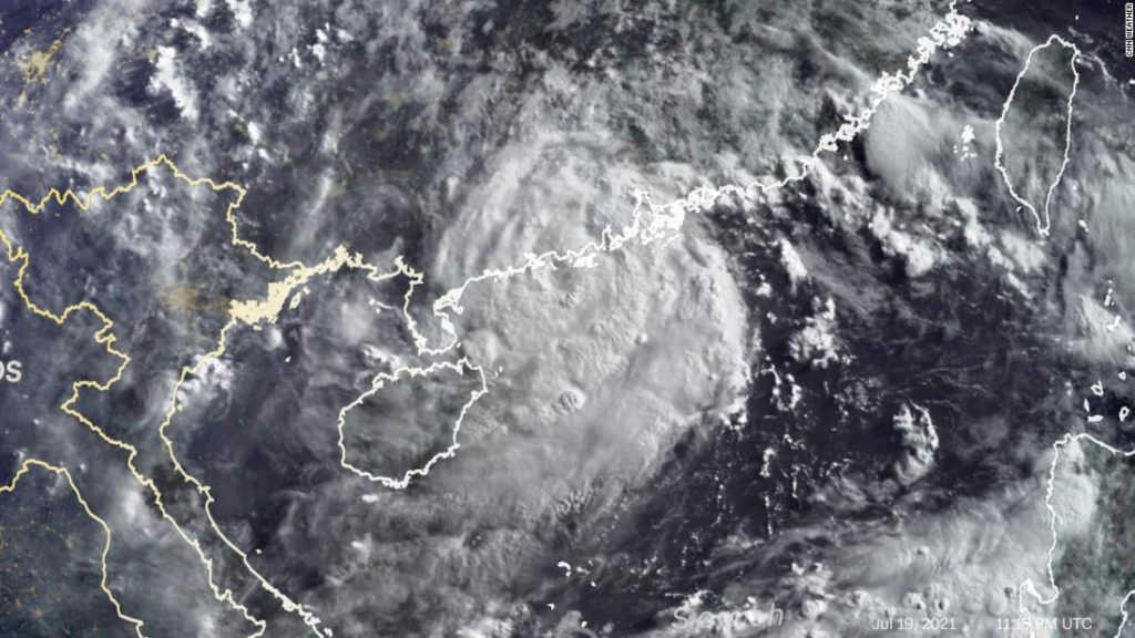 Cempaka intensifies into a typhoon as it approaches China
