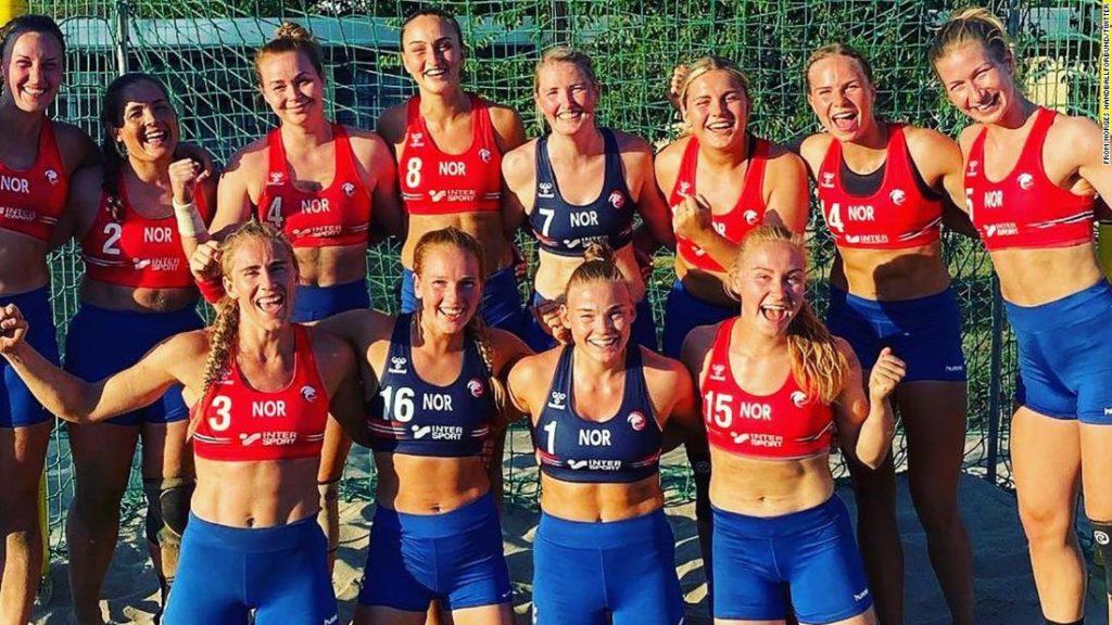 Women's beach handball team fined for choosing shorts over bikini bottoms
