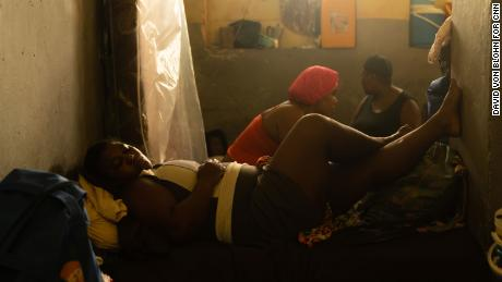 Cramped conditions at Lekol Kominal school in Port-au-Prince.
