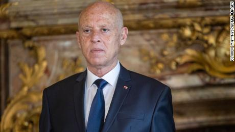 President of the Republic of Tunisia Kais Saied received at the Royal Palace in Brussels, Belgium on June 3, 2021