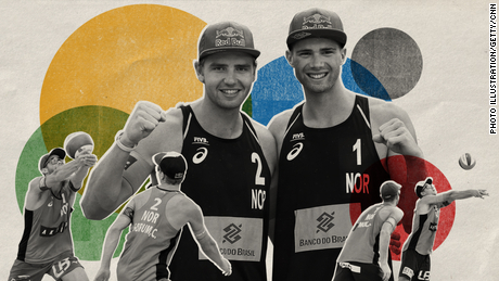 Norwegian men's beach volleyball duo Anders Mol (right) and Christian Sørum (left) are favorites for gold at Tokyo 2020.