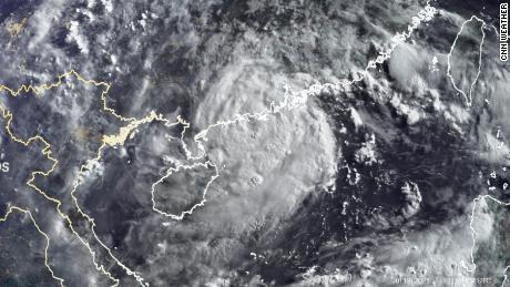 This satellite image shows Typhoon Cempaka on Tuesday morning.