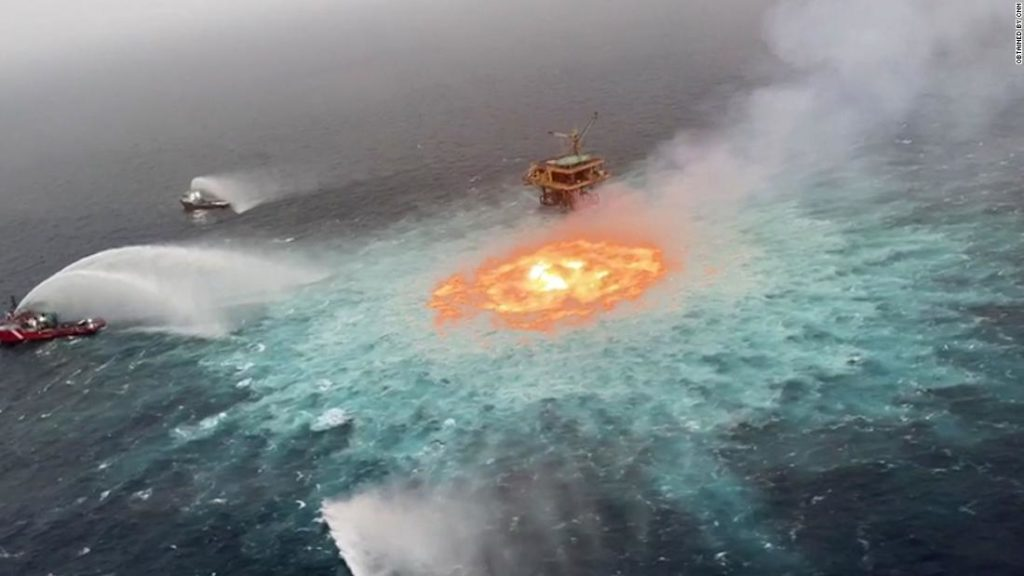 Gulf of Mexico fire: Gas leak responsible for 'eye of fire' in Mexican waters, says oil company