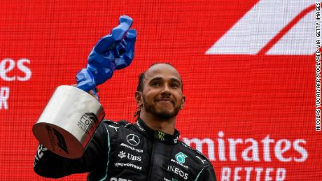 """""""We're entering a new era of car which will be challenging and exciting and I can't wait to see what else we can achieve together,"""" said Hamilton of his new contract."""