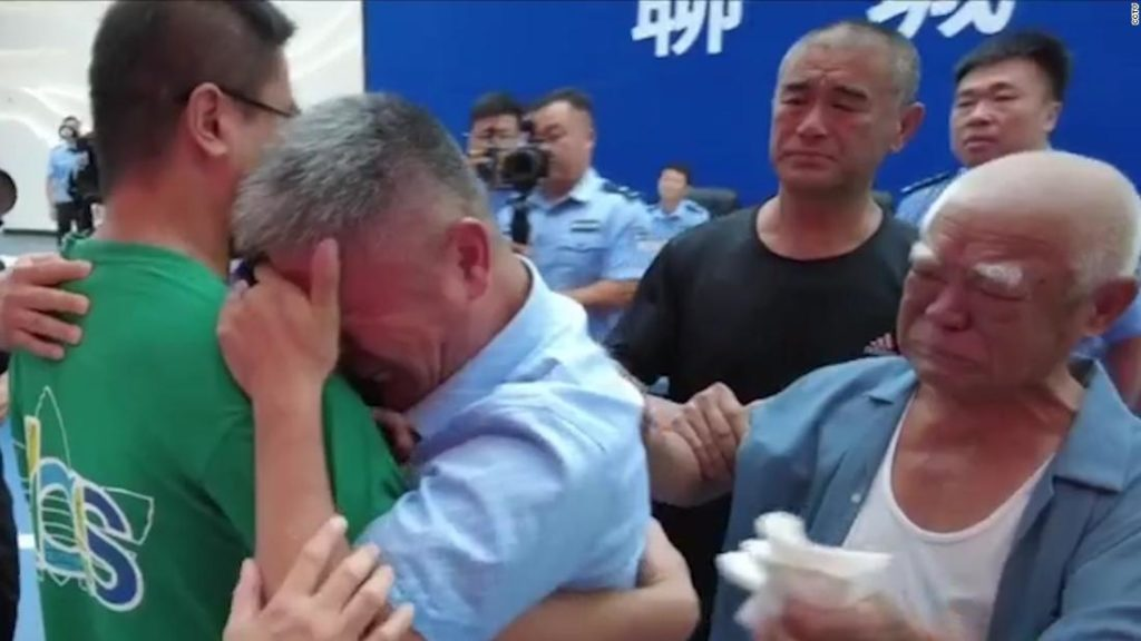 Parents reunite with abducted son after 24-year-search