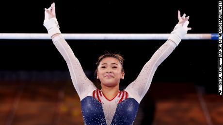 'I didn't think I would ever be here,' Suni Lee says after winning Olympic gold