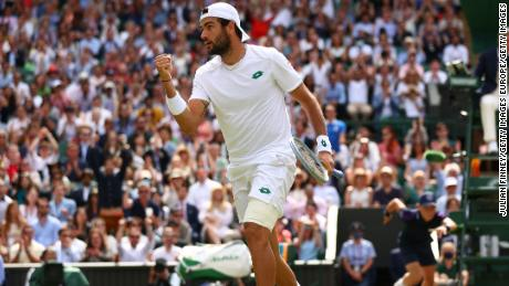 Matteo Berrettini did not look out of place in his first grand slam final.
