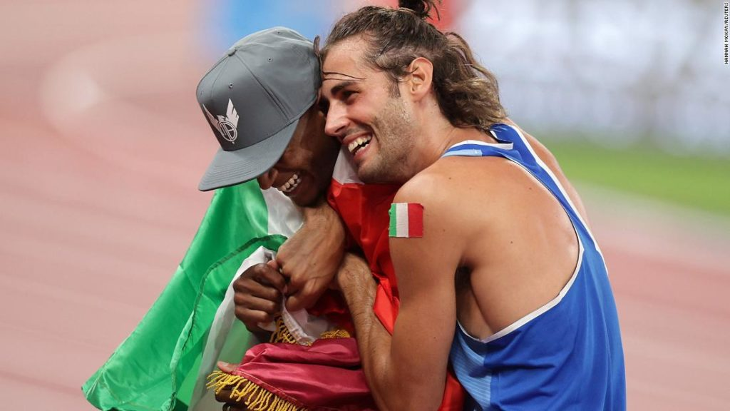 Gianmarco Tamberi and Mutaz Essa Barshim share Olympic gold in emotional high jump final