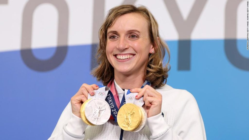 Katie Ledecky says she 'never would have imagined' her Olympic swimming success