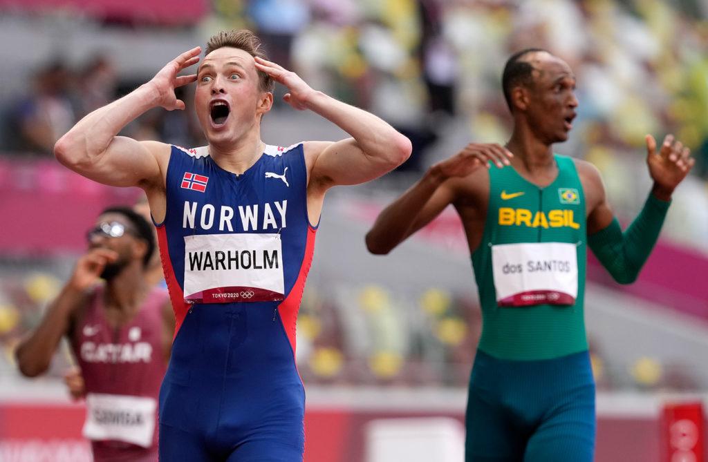 Karsten Warholm smashes world record to win the men's 400 meters hurdles