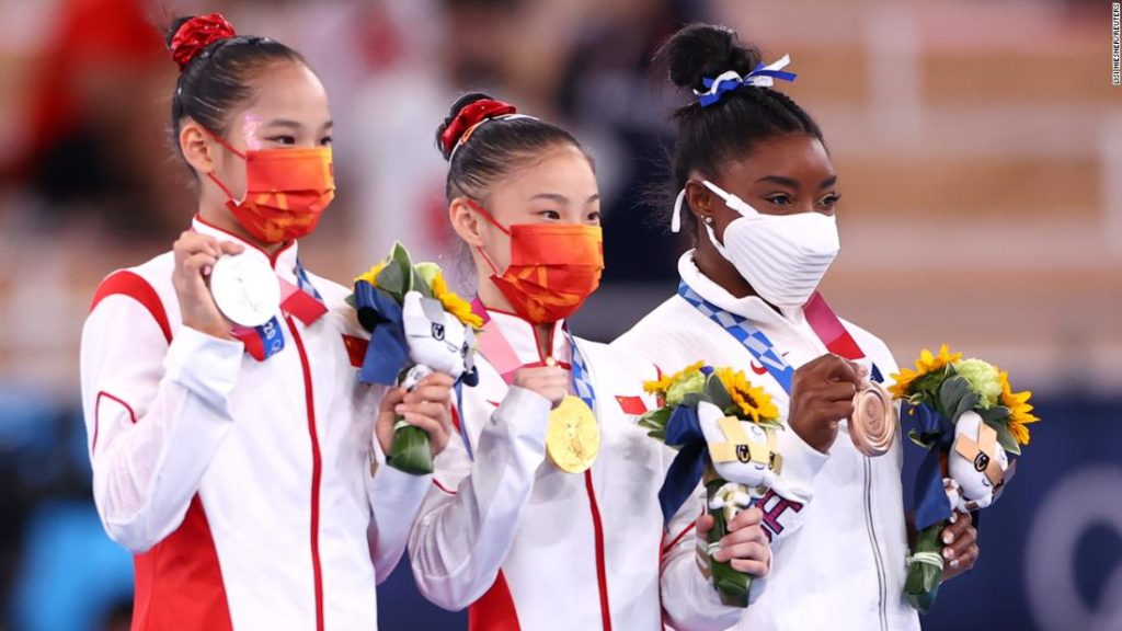 Simone Biles claims balance beam bronze as China's Guan Chenchen wins gold at the Tokyo Olympics