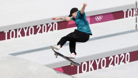Hayley Wilson of Australia competes in the women's street skateboarding event on July 26 at the Tokyo Olympic Games.