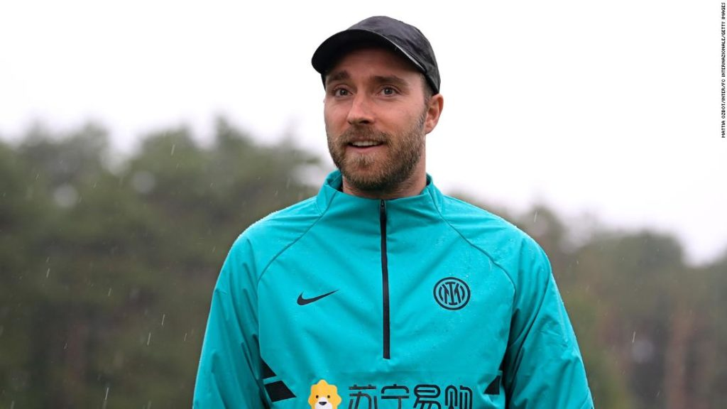 Eriksen reunited with Inter team-mates as he begins road to recovery