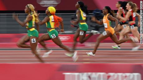 Despite crossing the finish line in a spectator-less stadium, Thompson-Herah, Fraser-Pryce and Jackson say that Japanese fans have made them feel welcome in Tokyo.