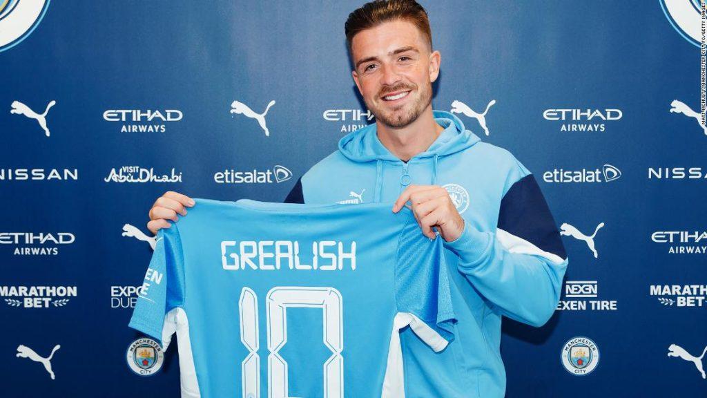 Jack Grealish: Manchester City signs England star from Aston Villa