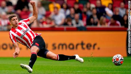 Brentford's Vitaly Janelt is pictured during the pre-season friendly match at Brentford Community Stadium against Valencia.