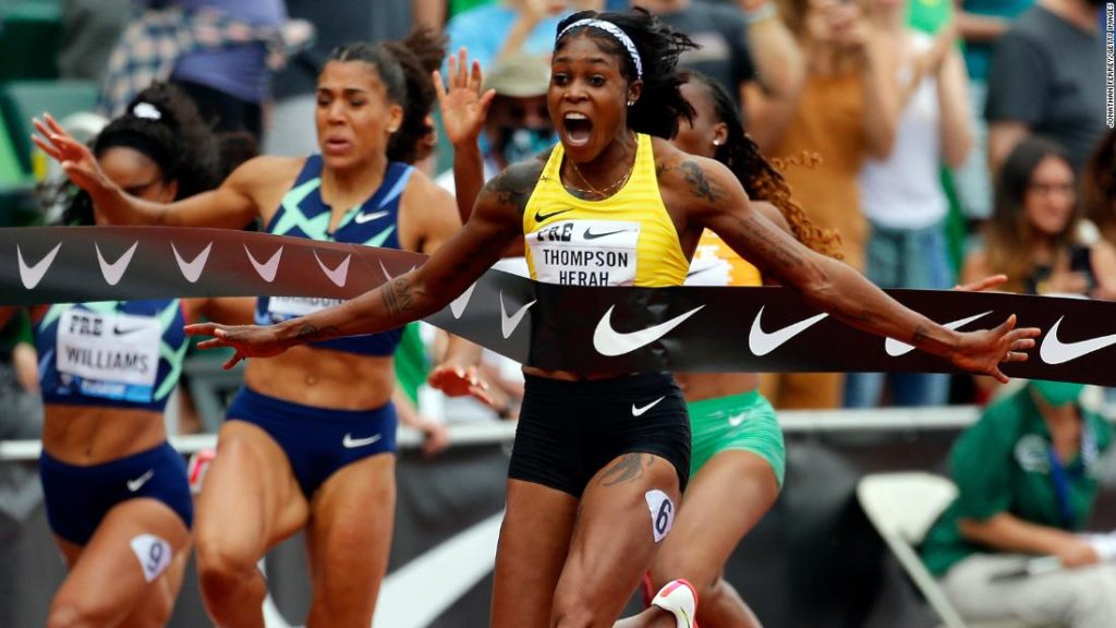 Elaine Thompson-Herah: Olympic champion runs second fastest women's 100m of all time