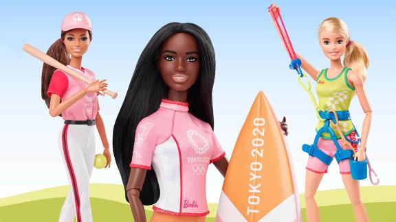 Mattel worked with the IOC and Tokyo 2020 organizers to design dolls reflecting the new sports in the Olympic program.