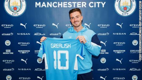 Jack Grealish:  Manchester City signs England star from Aston Villa in reported British transfer record deal