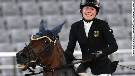 Annika Schleu's horse Saint Boy had refused to jump several times.