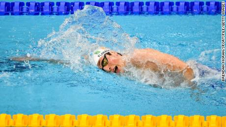 Flanagan competes in the 100m  freestyle on day two of the Irish National Swimming Team Trials.
