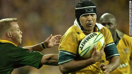 Kefu in action during the Tri-Nations test match between Australia and South Africa in 2003.